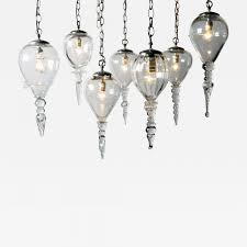 listings furniture lighting chandeliers and pendants set of seven hand blown glass