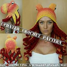 Crochet Octopus Hat Pattern Delectable Updated Crochet Octopus Hat Aka Twisted Kraken PATTERN Pls Etsy