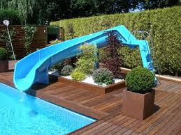 Wooden Pool Decks Swimming Pool Home Fiberglass Swimming Pools With Slides And