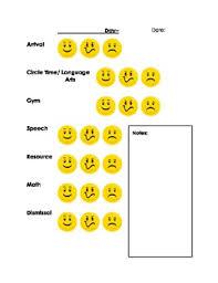 Daily Behavior Chart For Home Communication Flexible