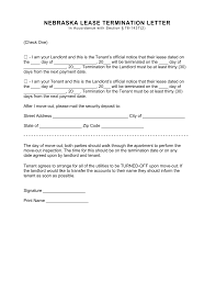 30 day eviction notice forms nebraska lease termination letter form 30 day notice eforms