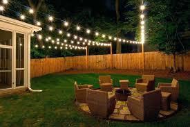 lighting modern design. Backyard String Lights Outdoor Lighting Ideas Photos Installation Including Awesome Modern Wedding On Fence Intended For Design