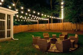backyard string lights outdoor string lighting ideas photos installation including awesome backyard lights modern wedding on fence intended for design