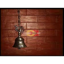 brown antique bell wall mural art