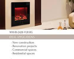 wm bi 2428 vlr bg electric fireplace