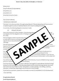 Letter Of Complaint To Hr Sample Templates