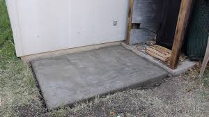Making Cement Forms Pouring A Small Concrete Slab Wilker Dos