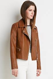 Forever 21 Quilted Moto Jacket in Brown   Lyst & Gallery. Women's Quilted Jackets Adamdwight.com