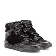 Designer Fashion Sneakers Balenciaga Leather And Suede High Top Sneakers Fashion