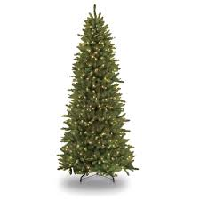 pre lit incandescent slim fraser fir artificial tree with 800 ul clear lights