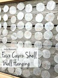 wall arts capiz shell wall art faux hanging crafts frame get inspired by this imagine