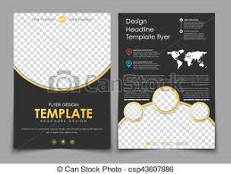 Flyer Template For Pages Design 2 Pages Of A4 Black With Yellow Elements