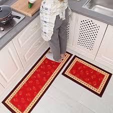 carvapet 3 piece non slip kitchen mat rubber backing mohawk wine and glasses 3 piece