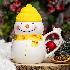 "Большая <b>кружка</b> - <b>снеговик</b> ""Растопи лёд"", керамика, 500 мл ..."