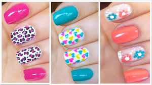 Art Designs 3 Cute Nail Art Designs For Spring Summer 2 Youtube