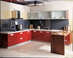 Red Gloss Kitchen Cabinets Kitchen Modern Kitchen Cabinet Sets For Small Rooms Red High
