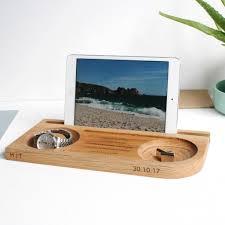 watch storage notonthehighstreet com watch tablet phone and cufflinks oak stand men s accessories