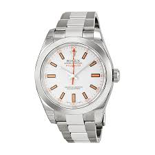 rolex watches jomashop rolex milgauss white index dial domed bezel oyster bracelet men s watch