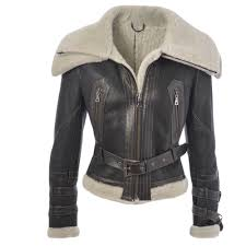 fitted sheepskin flying jacket black banff