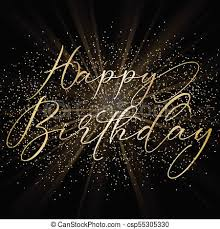 Happy Birthday Background Images Happy Birthday Background With Decorative Text On Gold Glitter Design