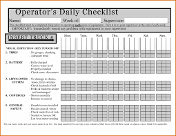 Housekeeping Checklist Format For Office In Excel