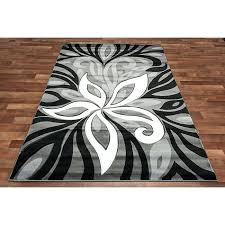 black and gray rug red