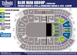 Blue Man Group Seating Chart Blue Man Group Tribute Communities Centre