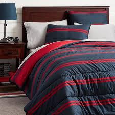 riverside stripe comforter sham navy red