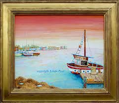 nautical marine art painting of boats