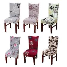 chair covers. Dreamworld Printed Chair Covers Spandex Elastic Cover For Weddings  Computer Office Stretch Seat China Dining Room Chair Covers T