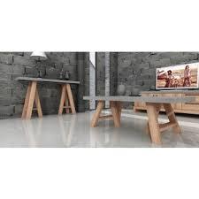Modrest Civic Modern Concrete U0026 Acacia Coffee Table
