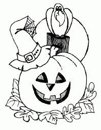 Small Picture Halloween Coloring Page For Preschool olegandreevme