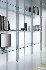 glass shelving unit custom glass wall shelves for entertainment sets desks and storage warm shelving unit