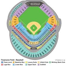Tropicana Field Seating Chart With Rows 77 Complete Tropicana Field Baseball Seating Chart