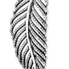 pandora light as a feather pendant