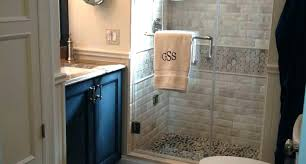 stand up shower stall ideas of a custom size small bathroom remodel with