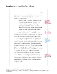 Quotations In Mla Essay