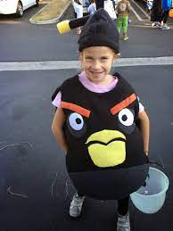 Chadwicks' Picture Place: Homemade Black Angry Bird (Bomb) Halloween Costume