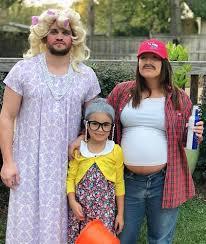 Reverse Role Pregnant Couple Halloween Costume Idea