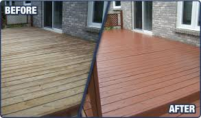 deck staining markham