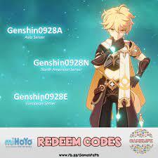 Genshin Impact Redeem Codes! Redeem ...
