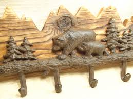 Cabin Coat Rack Rustic Bear And Mountian Coat Rack Lodge Cabin Decor Rich 71