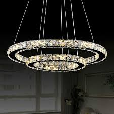 awesome circle chandelier light hot modern two circles led crystal chandelier light modern