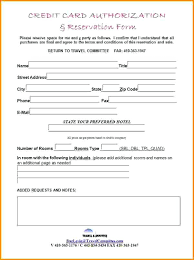 Hotel Credit Card Authorization Form Letter For Third Party ...