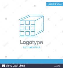 Matrix Logo Design Blue Logo Design For Abstract Aggregation Cube