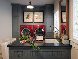 Laundry room office design blue wall Cabinets Shop This Look Diy Network 50 Trendy Gray Rooms Diy