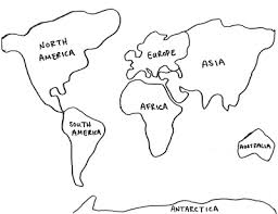 Small Picture Cut Out Continents Coloring Page Free Coloring Pages Color In This