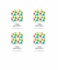 Gift Tag Template Free Birthday Gift Tag Template Printable Templates Free Favor