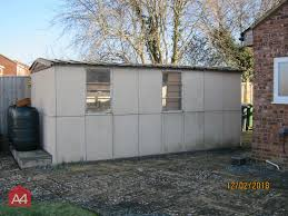 23 01 2018 a quick before and after a complete removal of a garage with a concrete panel frame walls and an asbestos cement roof