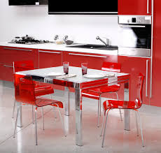 Kitchen designs red kitchen furniture modern kitchen Cabinets Removable Creative Designs Modern Kitchen Design Ideas With Ikea Cool Stylish Mesmerizing Red Glass Acrylic Dining Beautiful Modern Kitchen Room Netbul